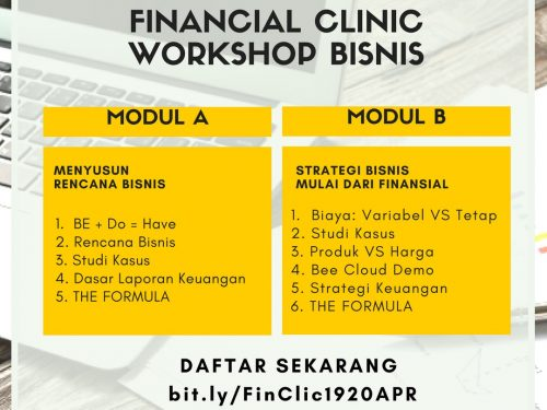 Financial Clinic Workshop Bisnis 19-20 April 2017